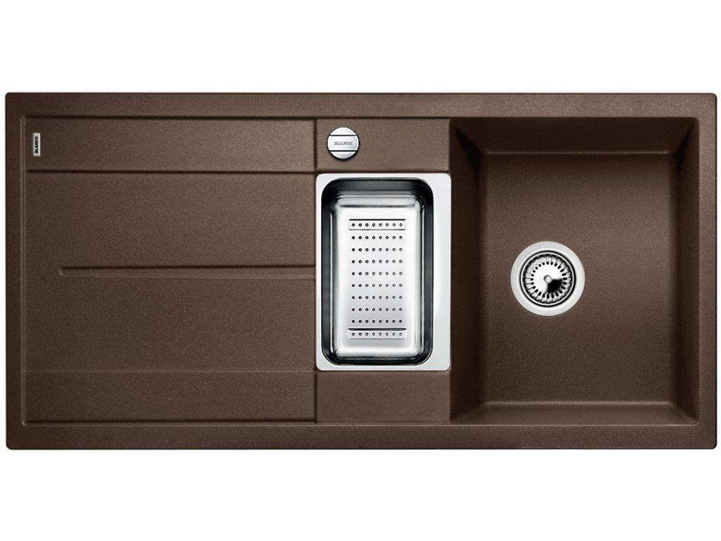 Granitový dřez Blanco METRA 6 S Silgranit kávová oboustranné provedení s excentrem přísluš. ano 515045