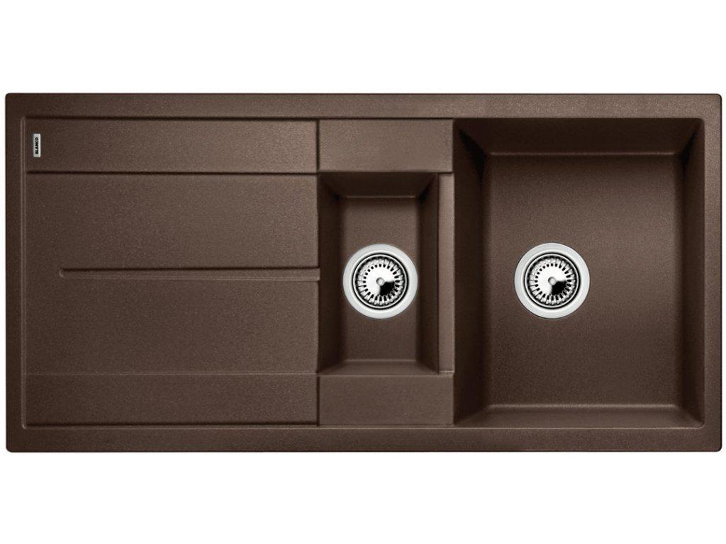 Granitový dřez Blanco METRA 6 S Silgranit kávová oboustranné provedení přísluš. ano 515046
