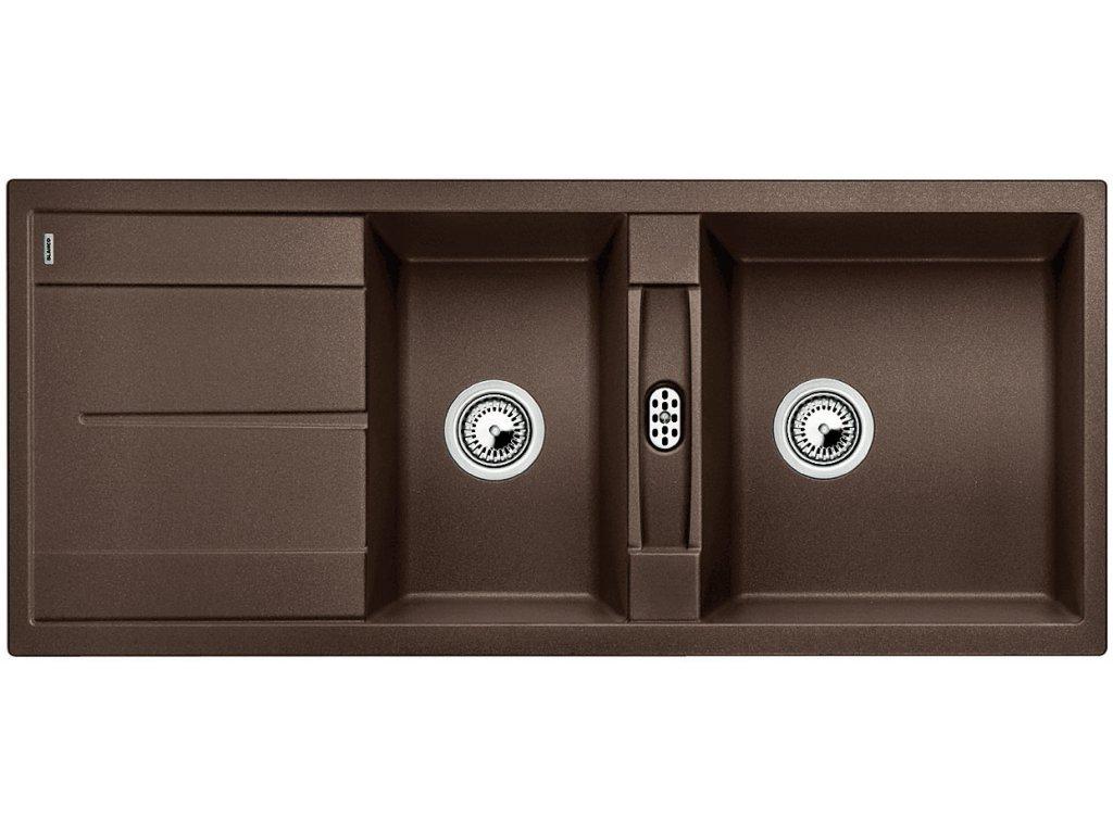 Granitový dřez Blanco METRA 8 S Silgranit kávová oboustranné provedení 515048