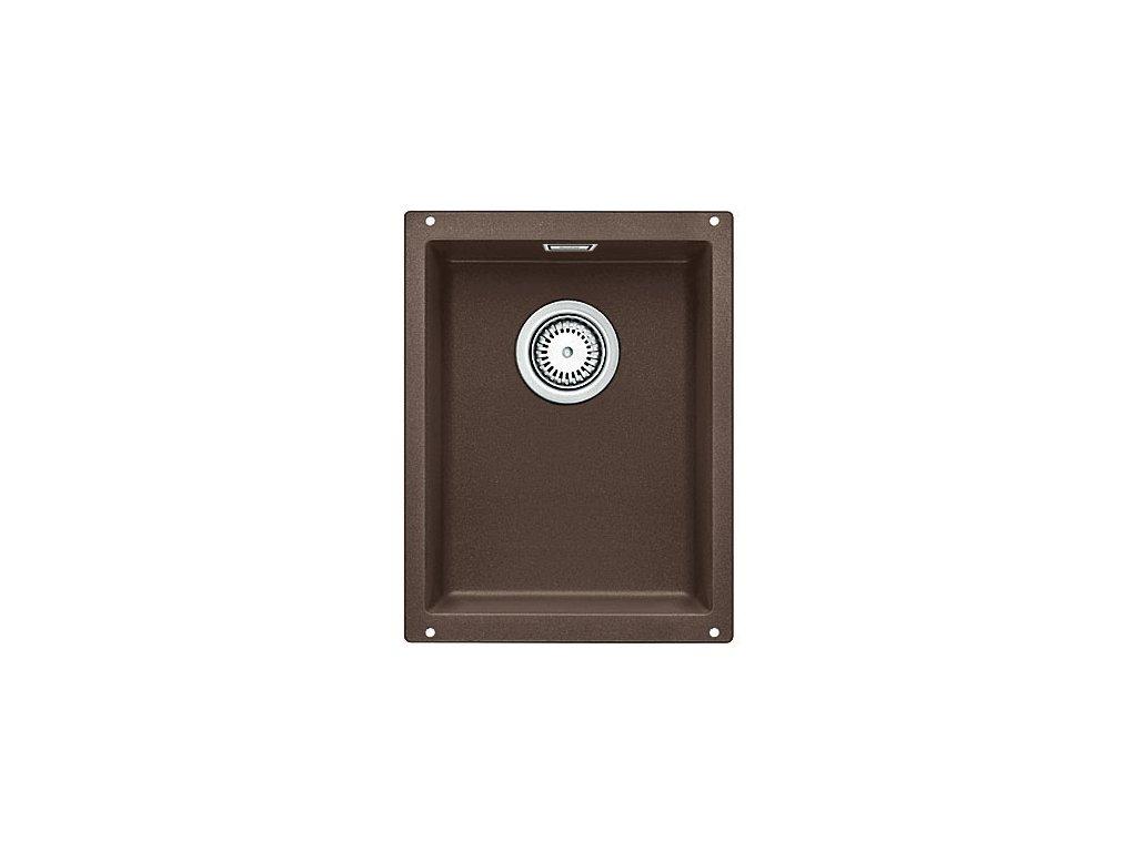 Granitový dřez Blanco SUBLINE 320-U Silgranit kávová  s táhlem 515055