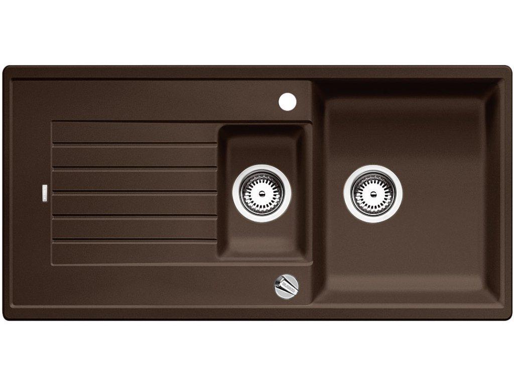 Granitový dřez Blanco ZIA 6 S Silgranit kávová oboustranné provedení s excentrem přísluš. ano 515071