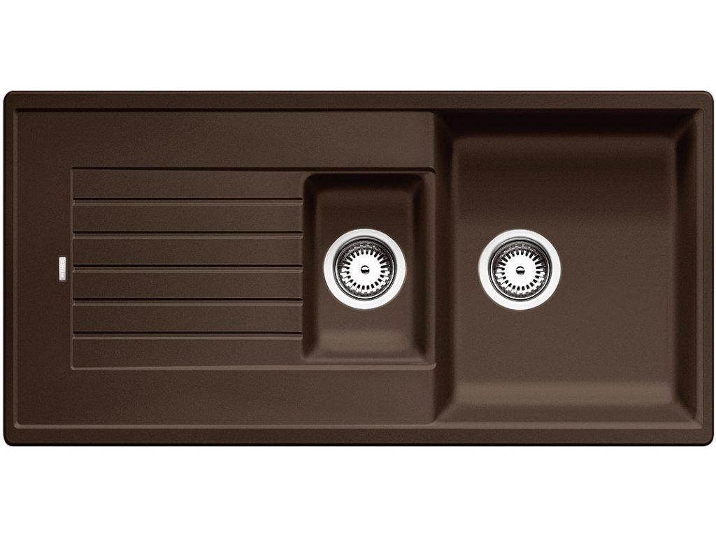 Granitový dřez Blanco ZIA 6 S Silgranit kávová oboustranné provedení přísluš. ano 515072