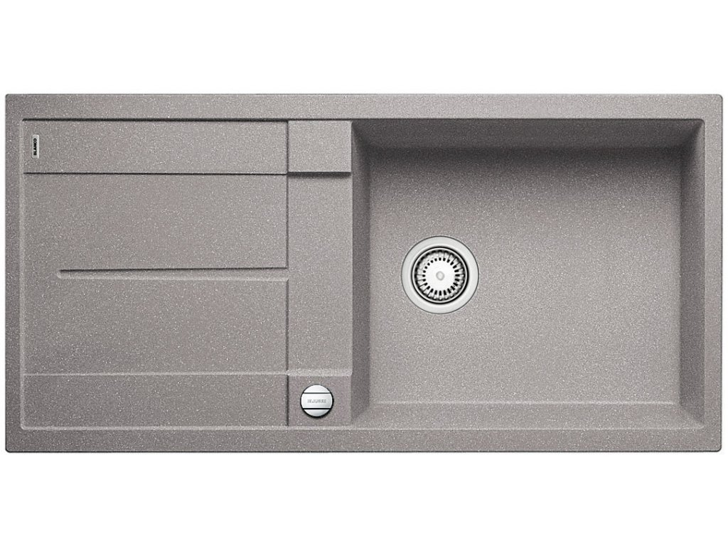 Granitový dřez Blanco METRA XL 6 S Silgranit aluminium oboustranné provedení s excentrem 515279