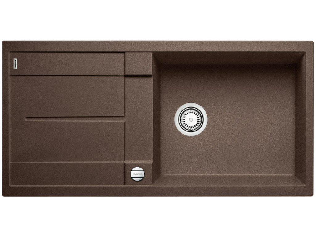 Granitový dřez Blanco METRA XL 6 S Silgranit kávová oboustranné provedení s excentrem 515287