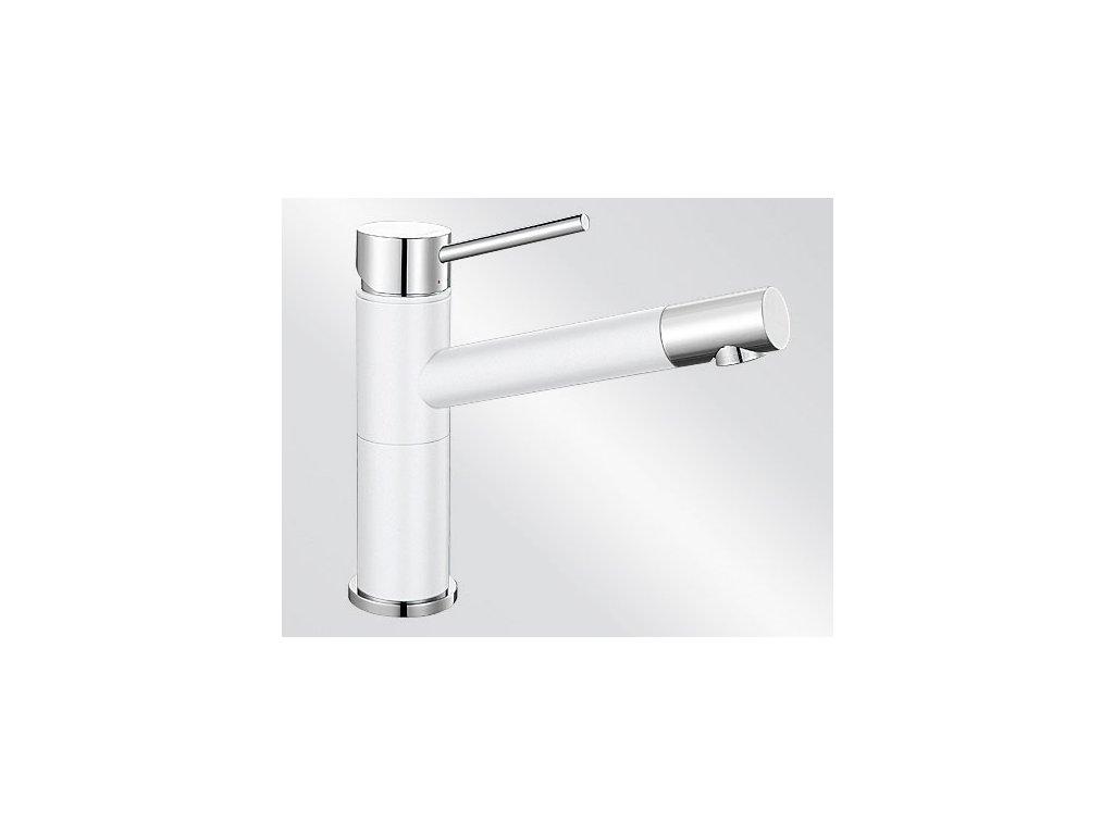 Kuchyňská baterie Blanco ALTA Compact Silgranit-look dvoubarevná bílá/chrom