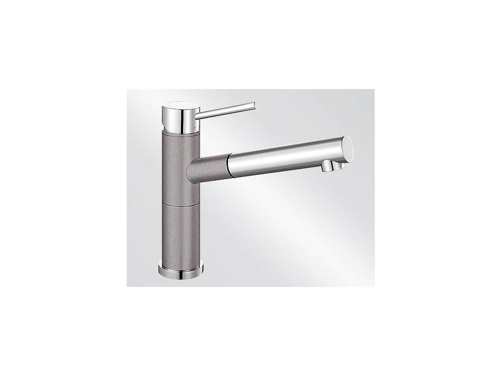 Kuchyňská baterie Blanco ALTA-S Compact Silgranit-look dvoubarevná aluminium/chrom