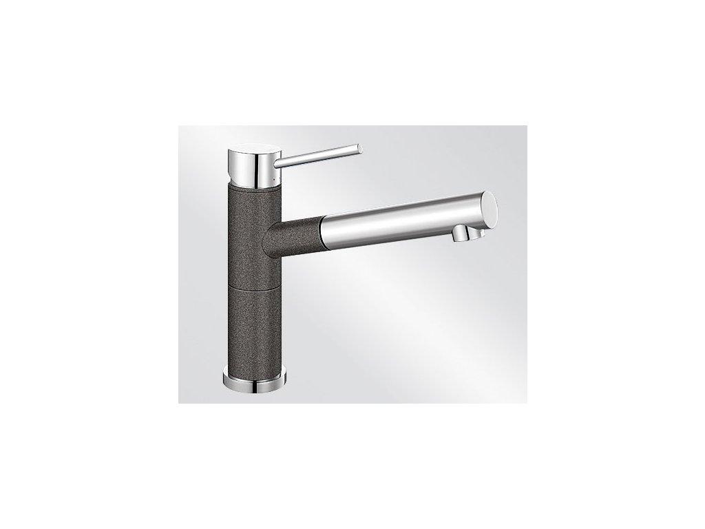 Kuchyňská baterie Blanco ALTA-S Compact Silgranit-look dvoubarevná antracit/chrom