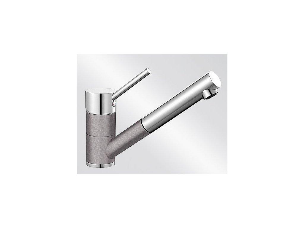 Kuchyňská baterie Blanco ANTAS-S HD Silgranit-look dvoubarevná aluminium/chrom