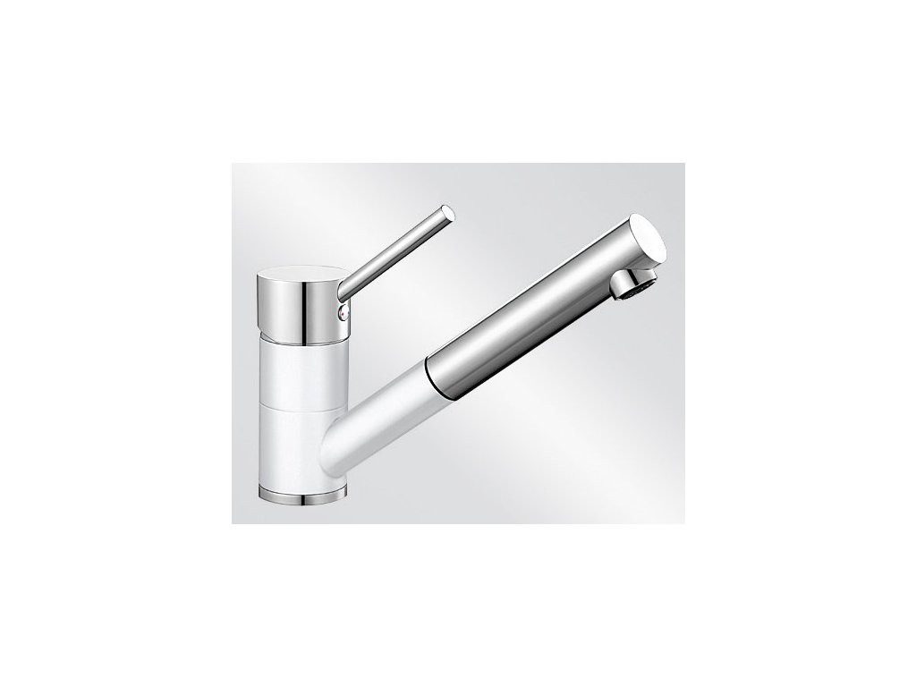 Kuchyňská baterie Blanco ANTAS-S HD Silgranit-look dvoubarevná bílá/chrom