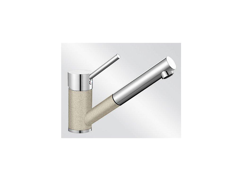 Kuchyňská baterie Blanco ANTAS-S Silgranit-look dvoubarevná písek/chrom