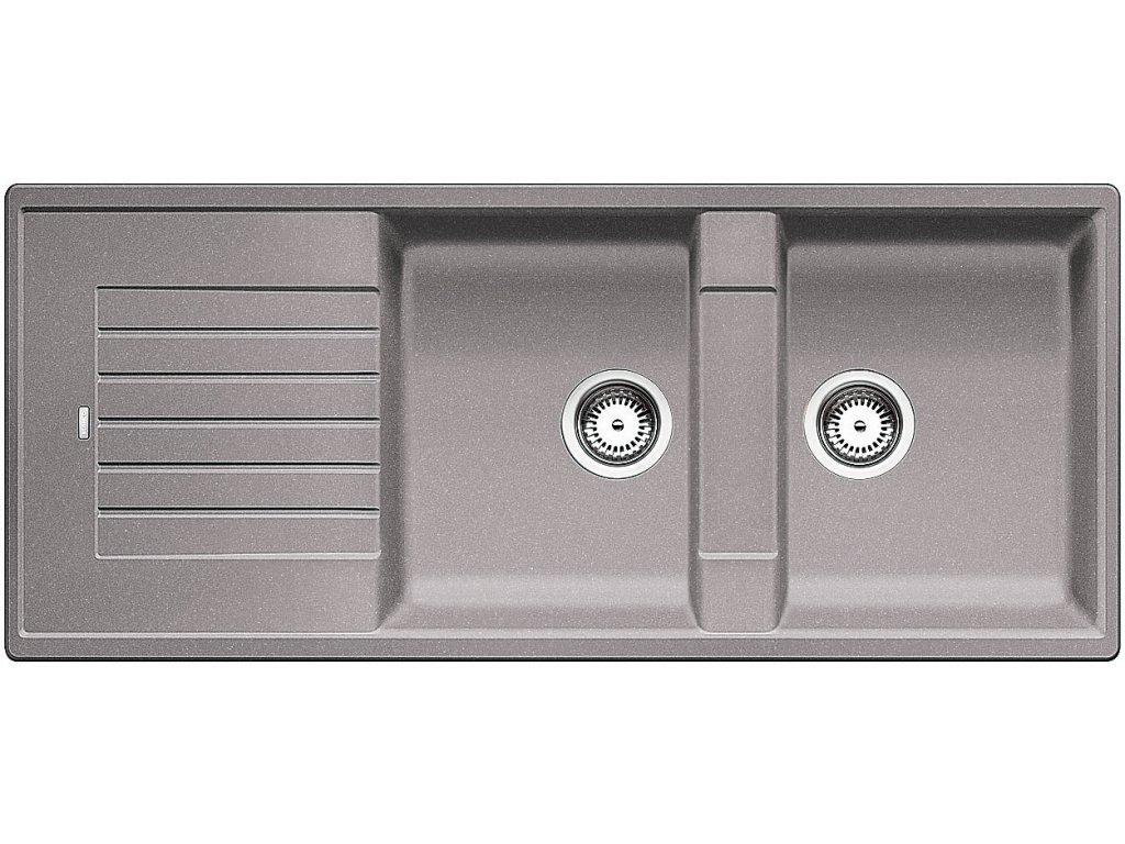 Granitový dřez Blanco ZIA 8 S Silgranit aluminium oboustranné provedení 515596