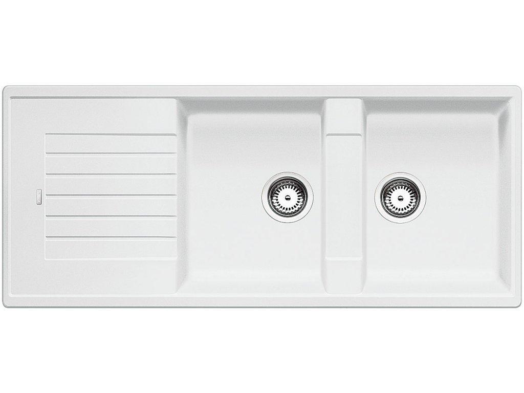 Granitový dřez Blanco ZIA 8 S Silgranit bílá oboustranné provedení 515597