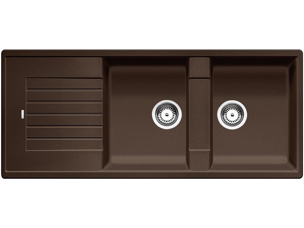 Granitový dřez Blanco ZIA 8 S Silgranit kávová oboustranné provedení 515602