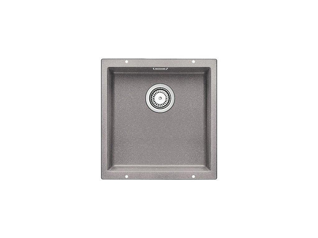 Granitový dřez Blanco SUBLINE 400 U Silgranit aluminium  s táhlem 515753