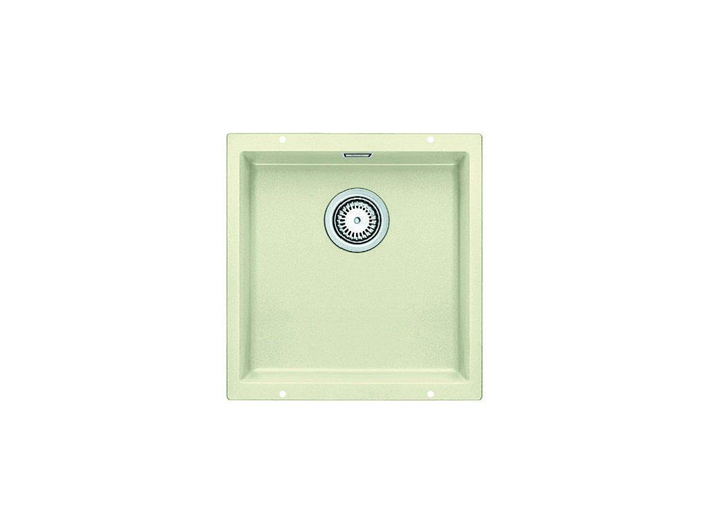 Granitový dřez Blanco SUBLINE 400 U Silgranit jasmín  s táhlem 515755
