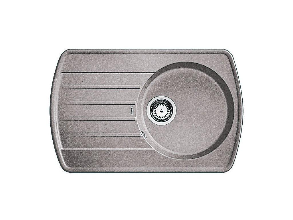 Granitový dřez Blanco RONDOVAL 45 S Silgranit aluminium oboustranné provedení 515763