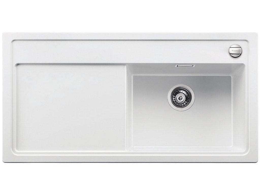 Granitový dřez Blanco ZENAR XL 6 S Silgranit bílá dřez vpravo s excentrem 516018