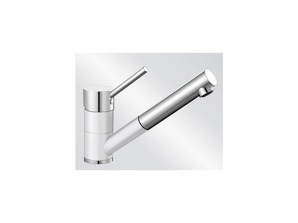 Kuchyňská baterie Blanco ANTAS-S Keramika-look dvoubarevná bílá lesk/chrom
