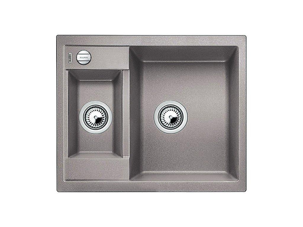 Granitový dřez Blanco METRA 6 Silgranit aluminium oboustranné provedení s excentrem 516156