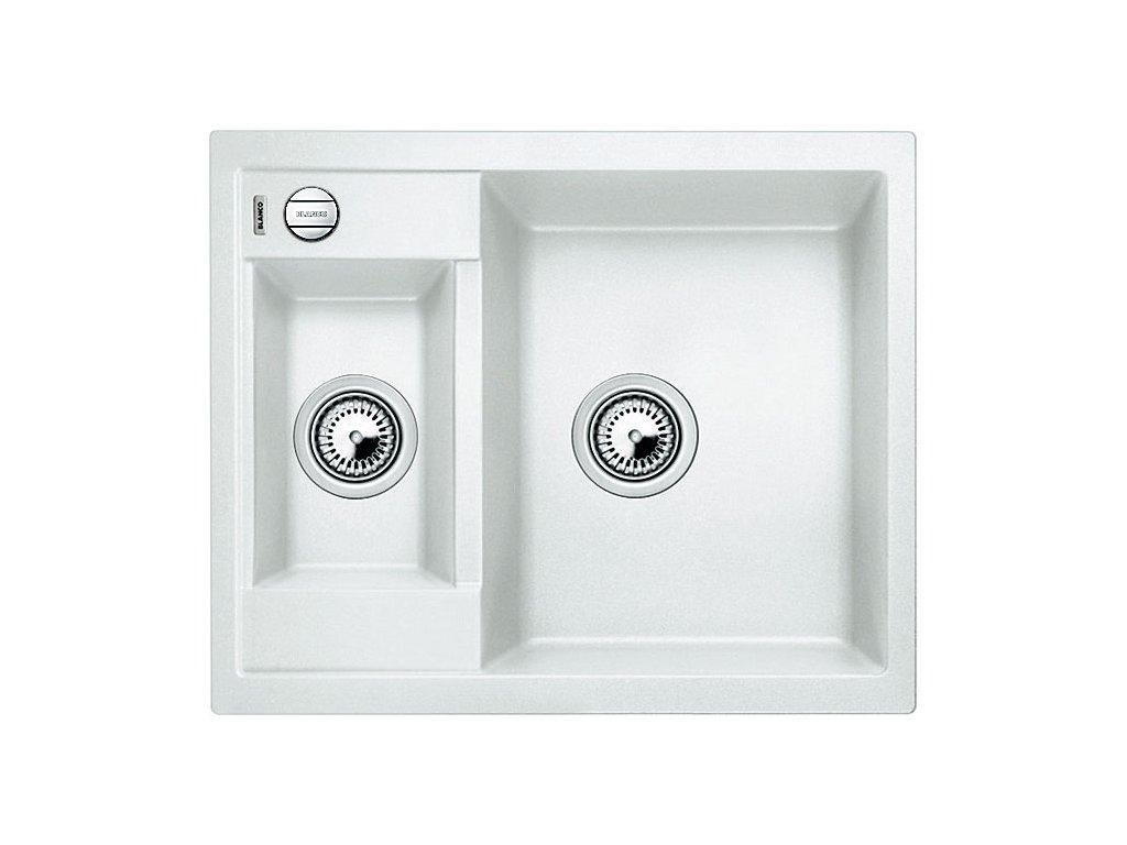 Granitový dřez Blanco METRA 6 Silgranit bílá oboustranné provedení s excentrem 516157