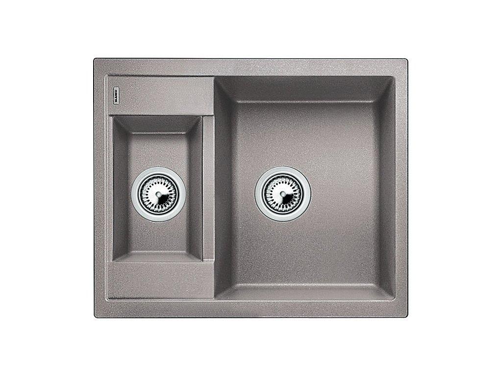 Granitový dřez Blanco METRA 6 Silgranit aluminium oboustranné provedení 516172