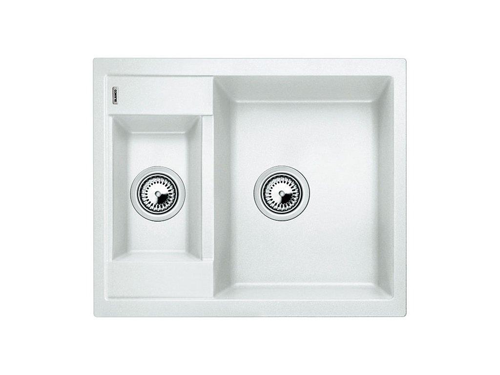 Granitový dřez Blanco METRA 6 Silgranit bílá oboustranné provedení 516173