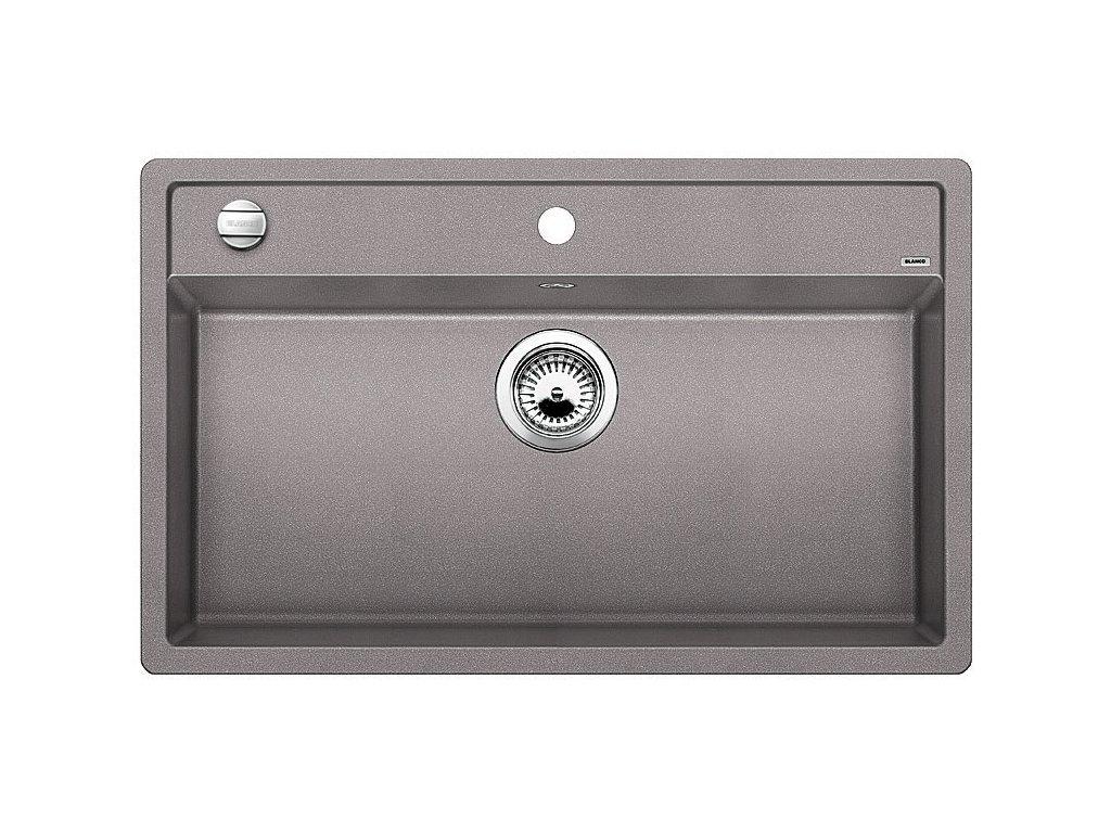 Granitový dřez Blanco DALAGO 8 Silgranit aluminium oboustranné provedení s excentrem 516630