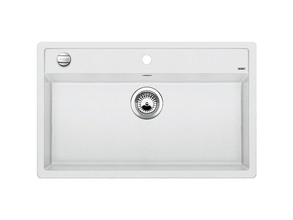 Granitový dřez Blanco DALAGO 8 Silgranit bílá oboustranné provedení s excentrem 516633