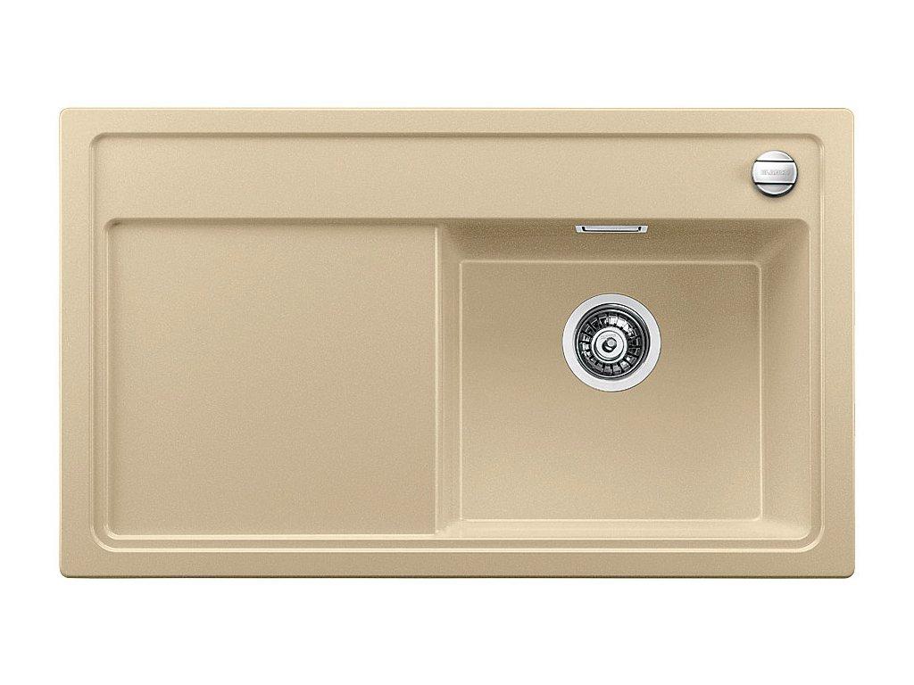 Granitový dřez Blanco ZENAR 45 S Silgranit béžová champagne dřez vpravo s excentrem bez příslušenství 516664
