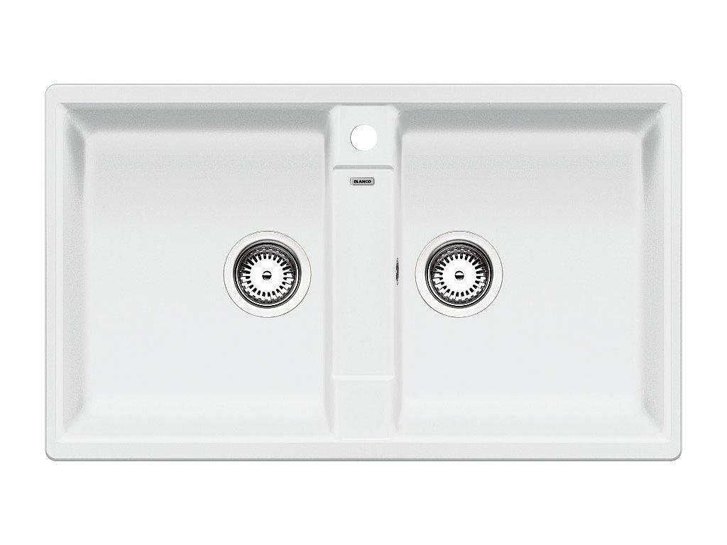 Granitový dřez Blanco ZIA 9 Silgranit bílá oboustranné provedení 516678