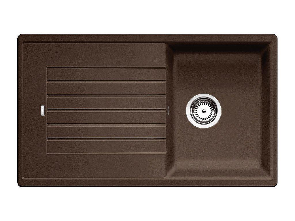 Granitový dřez Blanco ZIA 45 SL Silgranit kávová oboustranné provedení 516745