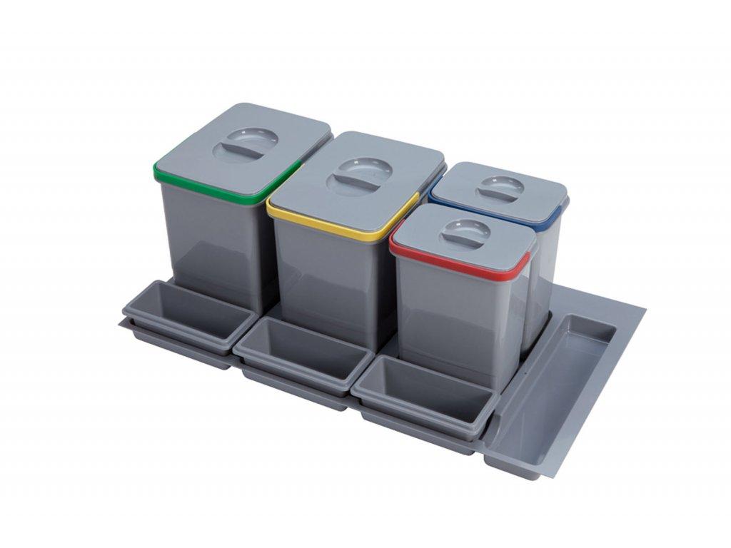 Odpadkový koš Sinks PRACTIKO 900 2x12l+2x5l