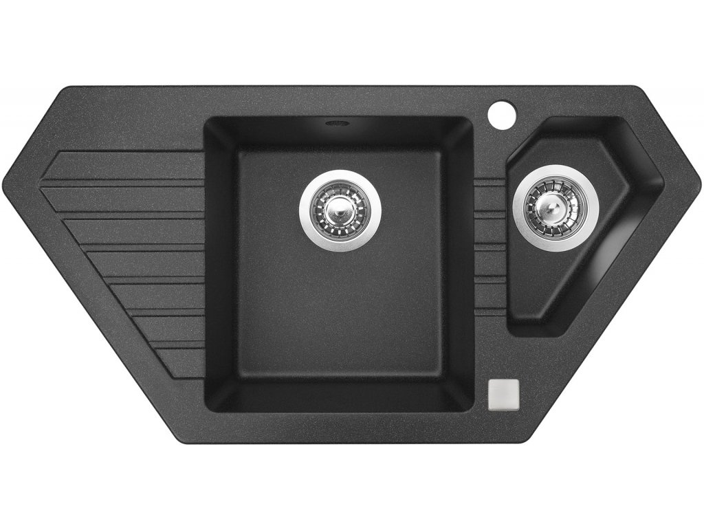 Granitový dřez Sinks BRAVO 850.1 Granblack