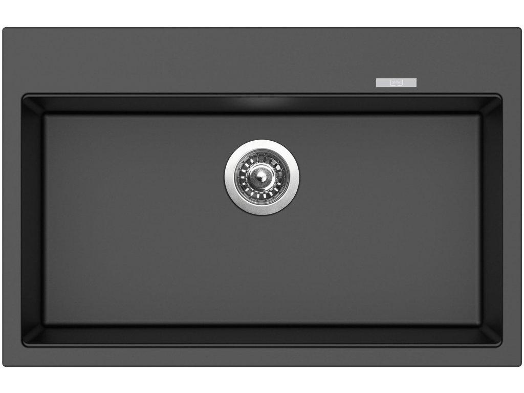 Granitový dřez Sinks MAXIMO 780 Metalblack