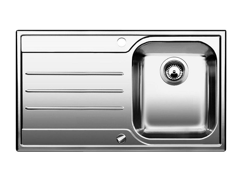 Nerezový dřez Blanco MEDIAN 45 S Nerez kartáčovaný dřez vpravo s excentrem