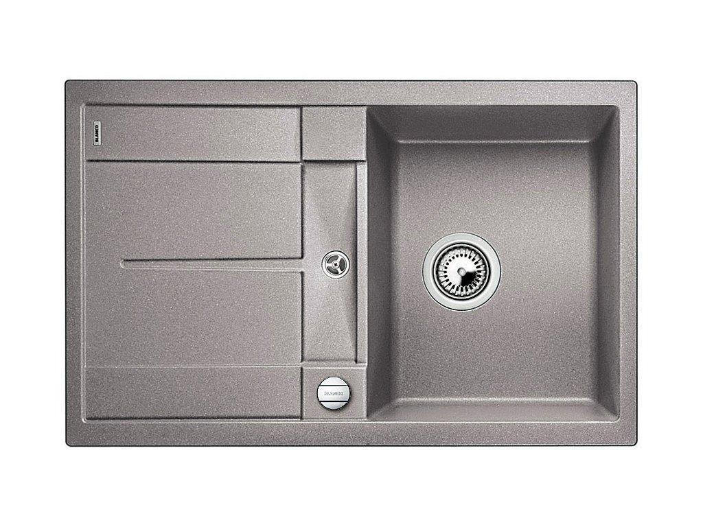 Granitový dřez Blanco METRA 45 S Silgranit aluminium oboustranné provedení s excentrem 513027