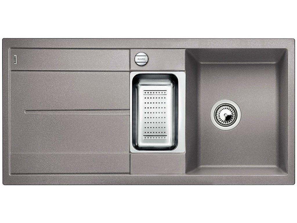 Granitový dřez Blanco METRA 6 S Silgranit aluminium obous. prov. s excentrem přísluš. ano 513045