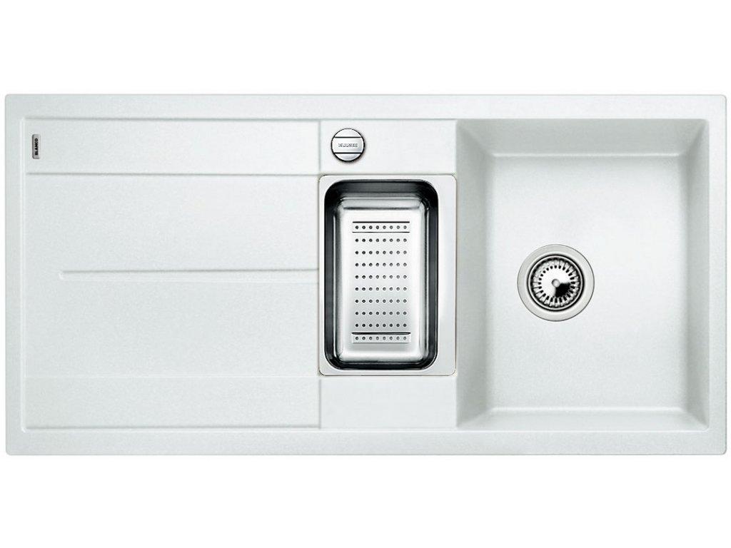 Granitový dřez Blanco METRA 6 S Silgranit bílá oboustranné provedení s excentrem přísluš. ano 513046