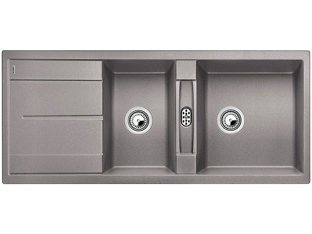 Granitový dřez Blanco METRA 8 S Silgranit aluminium oboustranné provedení 513063