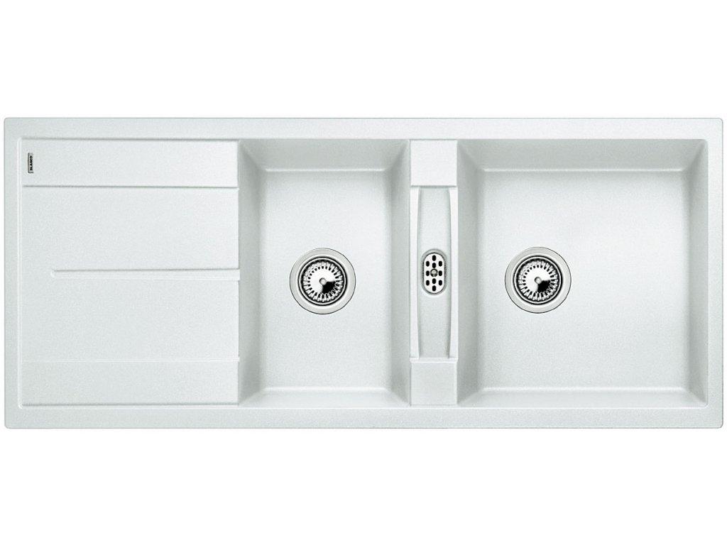 Granitový dřez Blanco METRA 8 S Silgranit bílá oboustranné provedení 513064