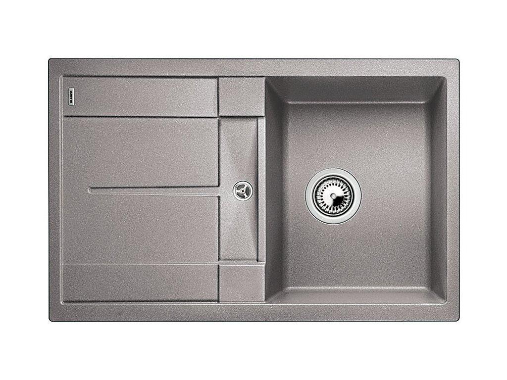 Granitový dřez Blanco METRA 45 S Silgranit aluminium oboustranné provedení bez excentru 513186