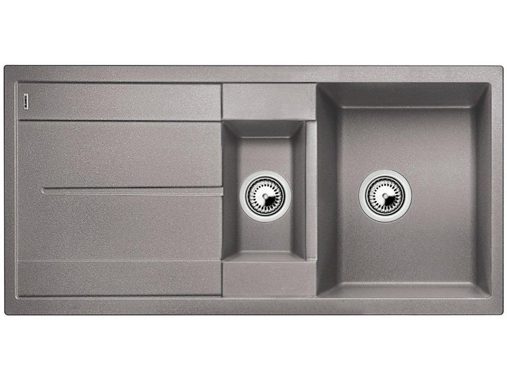 Granitový dřez Blanco METRA 6 S Silgranit aluminium oboustranné provedení přísluš. ano 513222