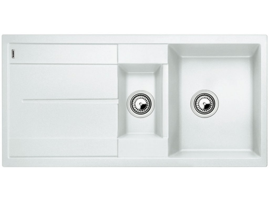 Granitový dřez Blanco METRA 6 S Silgranit bílá oboustranné provedení přísluš. ano 513223