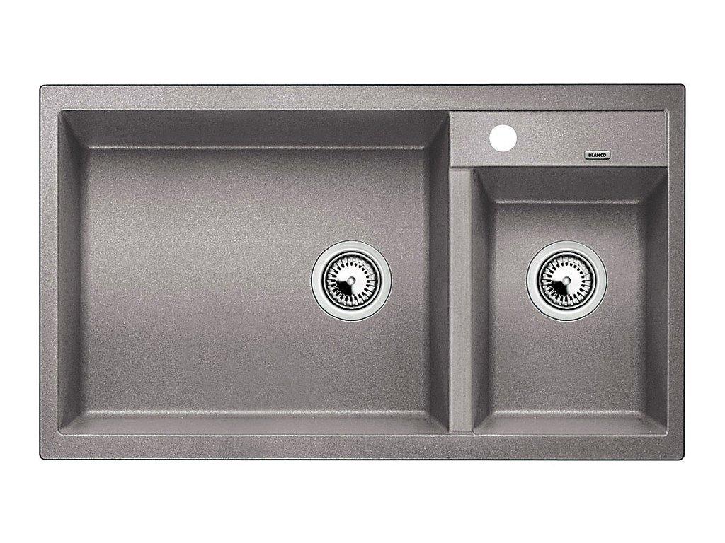 Granitový dřez Blanco METRA 9 Silgranit aluminium dřez vlevo 513268