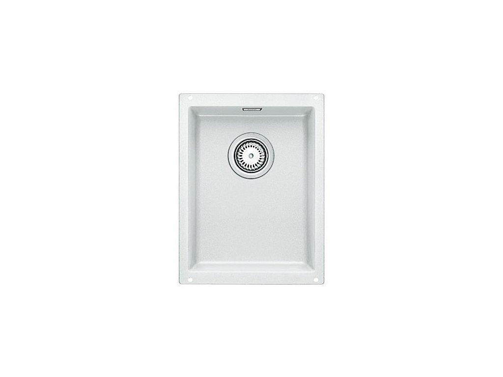 Granitový dřez Blanco SUBLINE 320-U Silgranit bílá s táhlem 513401
