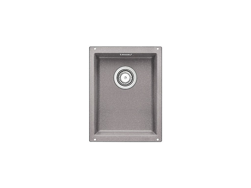 Granitový dřez Blanco SUBLINE 320-U Silgranit aluminium  s táhlem 513407