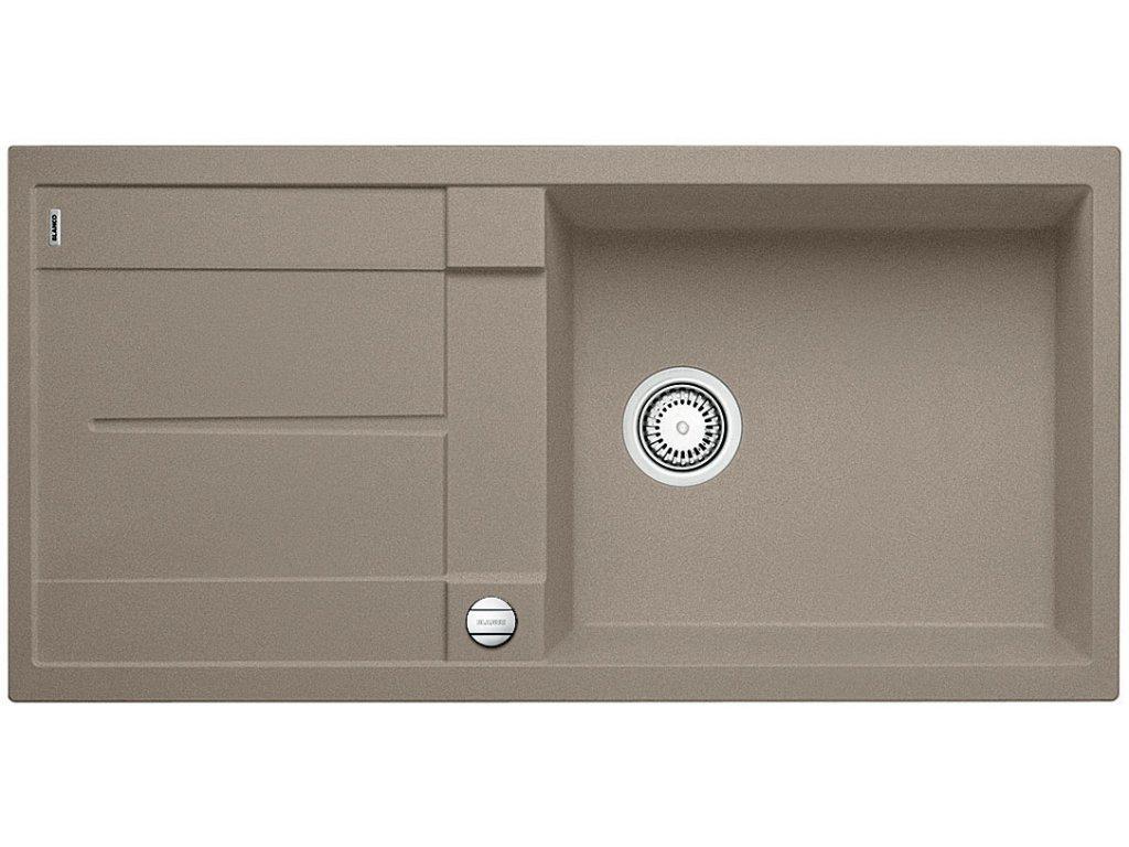 Granitový dřez Blanco METRA XL 6 S Silgranit tartufo oboustranné provedení s excentrem 517360