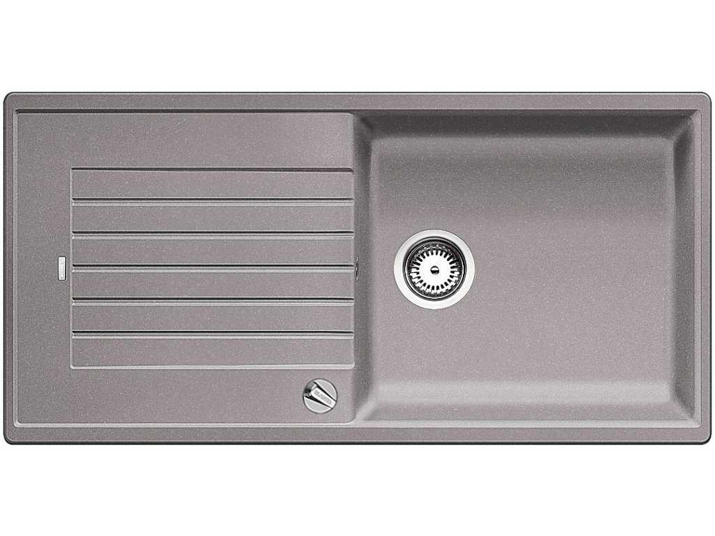 Granitový dřez Blanco ZIA XL 6 S Silgranit aluminium oboustranné provedení s excentrem 517559