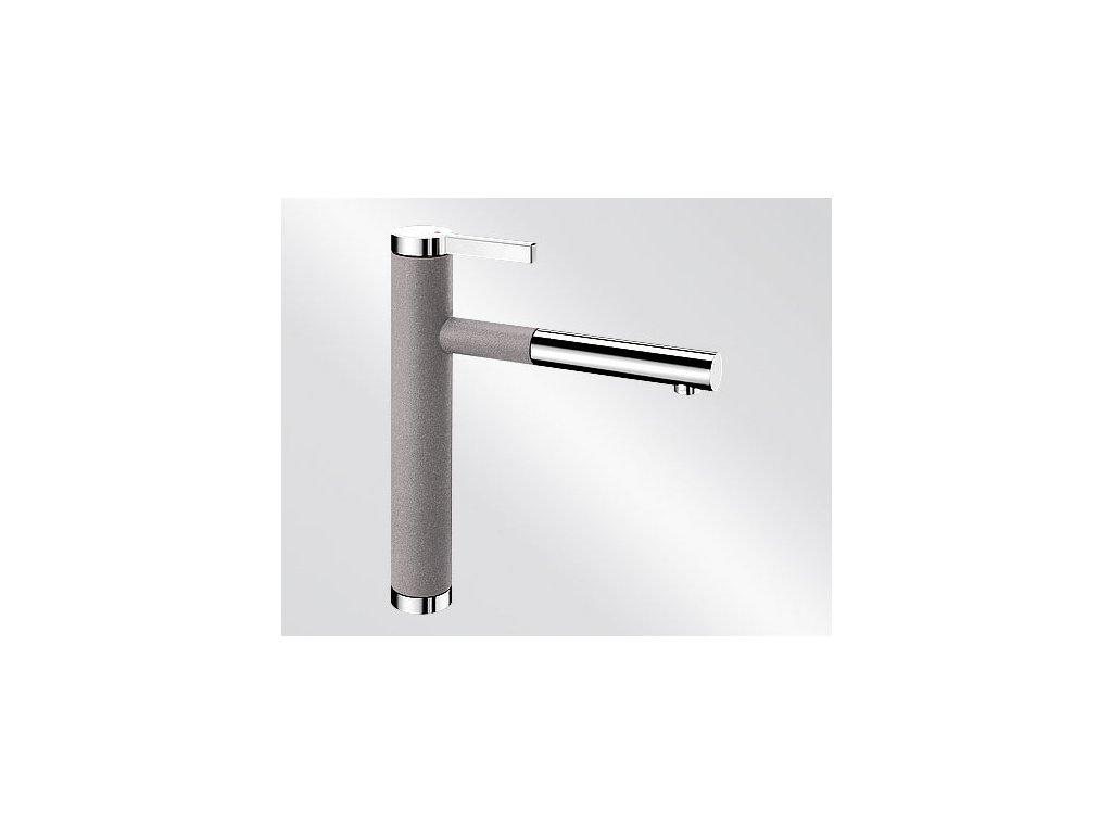 Kuchyňská baterie Blanco LINEE S Silgranit-look dvoubarevná aluminium/chrom