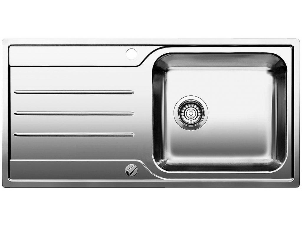 Nerezový dřez Blanco MEDIAN XL 6 S-IF Nerez kartáčovaný oboustranné provedení s excentrem
